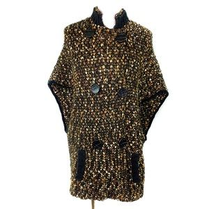 Curio Chunky Knit Poncho Cardigan Sweater Large